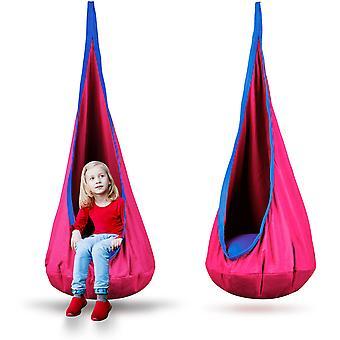 Kinderhangstoel roze – Met kussen