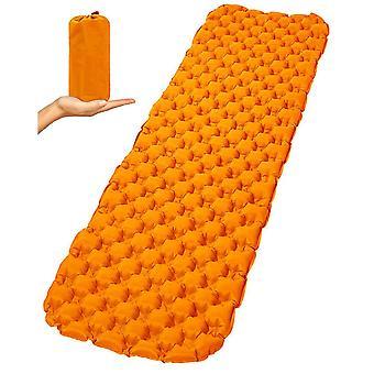 Camping Sleeping Pad, Coussins de couchage ultralégers pour la randonnée, matelas pneumatique de randonnée (orange)