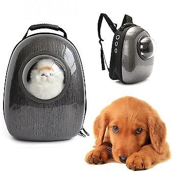 Sonda espacial astronauta cápsula pet backpack portador transparente respirável viagem pequeno cão saco de gato