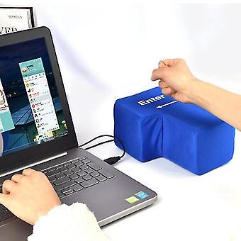 USB Big Input Key Legetøj Creative Udluftning Tryk Computer Giant Super Enter Key Lindre Stress Børn