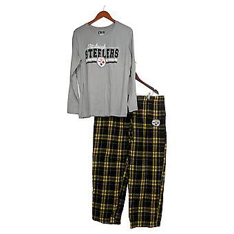 NFL Conjunto de pijama para mujer XXL con top de manga larga y pantalones de franela gris A387687