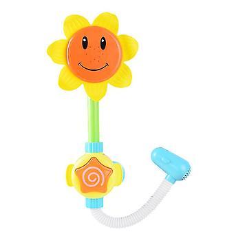 Ηλεκτρικό ντους ηλίανθου μωρών, παιχνίδια νερού ψεκασμού λουτρών παιδιών