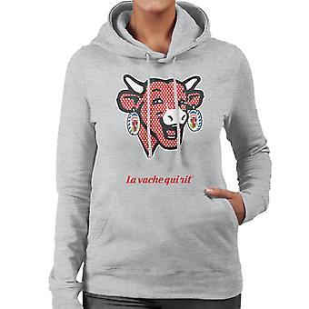 Den grinende Ko Polka Dot Kvinders Hætteklædte Sweatshirt