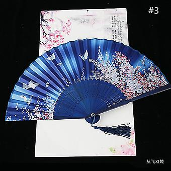 Chinesische Vintage Stil Falten Fan Kunst Handwerk Geschenk Tanz Hand Fan Home Decoration Ornamente(#3)