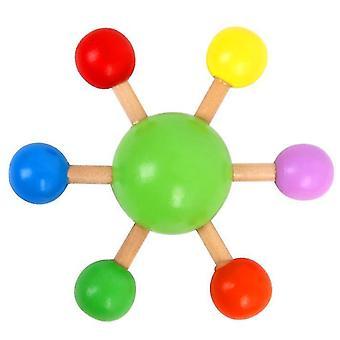 Vingertop top kleurrijke spinnen top houten plezier vrije tijd decompressie speelgoed (groen)