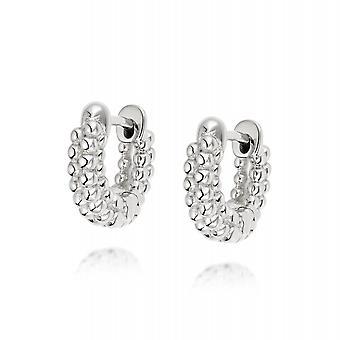Daisy Dolly Huggie Hoop Sterling Silver Earrings HUG04_SLV