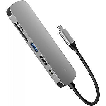 USB C Hub 6 em 1 Adaptador Multiport Hub Usb C Dongle