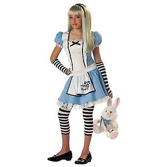Alice Conto de Fadas Alice na História do País das Maravilhas Semana do Livro Vestido Tween Girls Fantasia