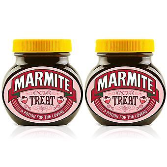 Marmite Spread Halloween Geschenk, Treat Personalisiertes Glas - Packung mit 2 x 250g