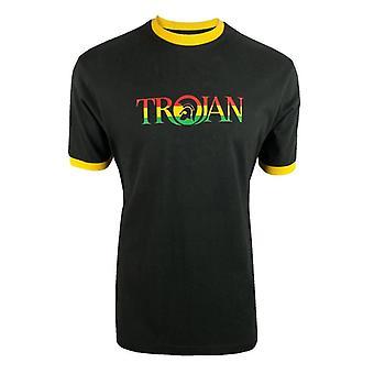 Trojan Logo Ringer T-Shirt TC/1014 - Rasta