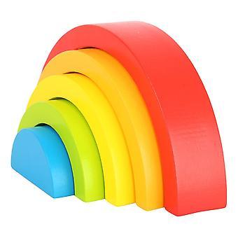 Rainbow Building Blocks Wooden Puzzle Kid's Toy