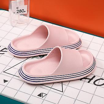 Pink  38-39 pillow slides slippers home soft thick soled sandals anti slip quick drying shower shoes lc336