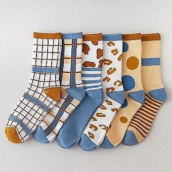 Cow Printed Crew Sock Set
