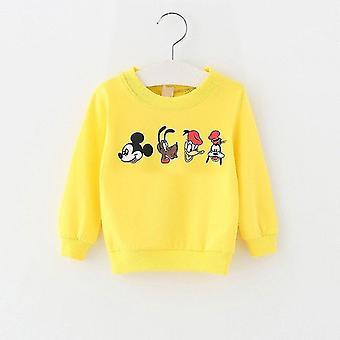 Cute Cartoon Print Long Sleeve Sweatshirt