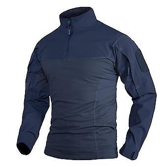 Men Workout Training T-shirts W Zipper Pockets Tops