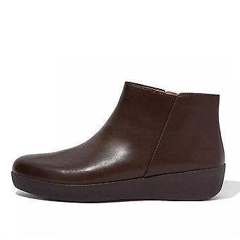FitFlop Sumi Leather Ankle Boot In Chocolate