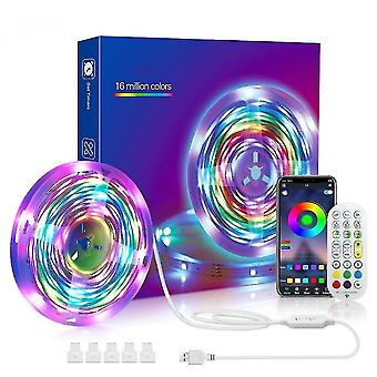 Music stand lights rgb led colour changing strip light with remote bluetooth app control 5m