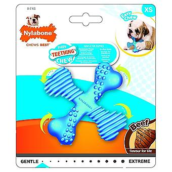 Dog toys puppy teething chew textured crossbone beef xsmall