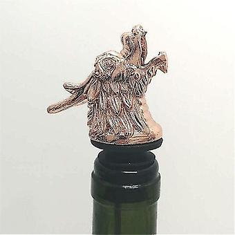 Scandinavische stijl zinklegering dierlijke thema wijn stop en pourer (Rose Gold Dragon)