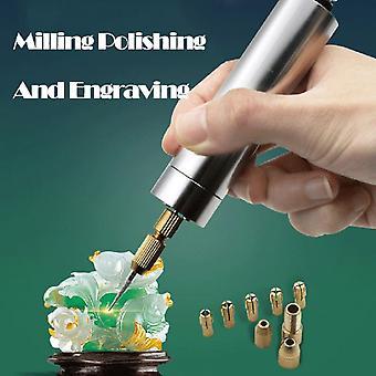 Mini Electric Engraving Pen Grinding Machine Electric Polishing Mini Hand Drill Tool Multicolor