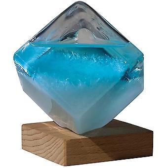 Myrsky lasi barometrit vesikuutio sää ennustaja lasiennusteet pullo työpöydän sisustus