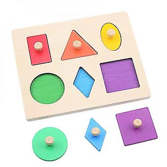 Geometric Shape Matching Baby And Child Wood Education Learning Preschool Toy Montessori Several Shapes