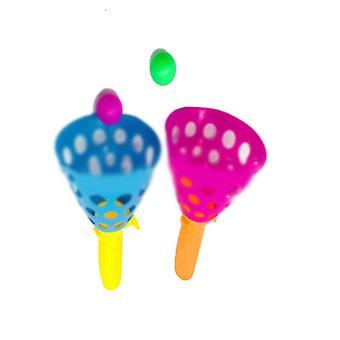 Actividades de juego interior al aire libre con 2 canastas de lanzador y 2 bolas