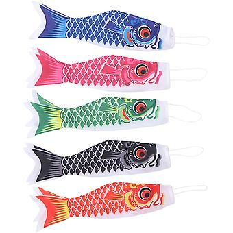 5 pezzi Windsocks Garden Windsock Mini Fish Windsock per l'indicazione della direzione e della forza del vento (40 cm)