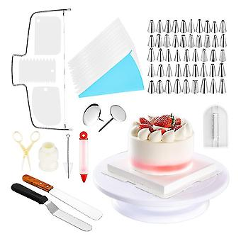 Venalisa 73pcs Kuchen Dekoration Werkzeug Kit Backen Fondant Lieferungen Plattenspieler Pfeifenbeutel Spitze Spatel Diy Kuchen