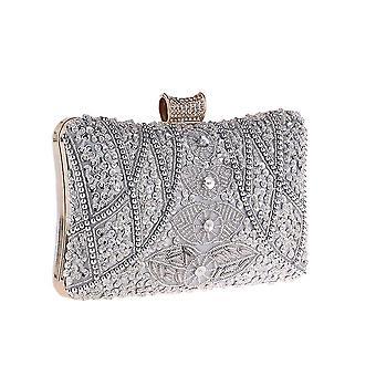 Damen Vintage Perlen Clutches Geldbörsen Abendtaschen