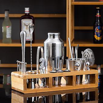 Bimirth 21pcs Stainless Steel Bartender Set Auto-aprendizaje Cocktail Shaker Shaker Glass Bartending Tool