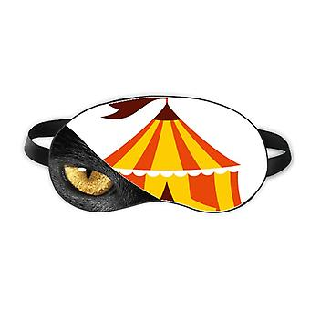 Amusement Park Tent Color Illustration Eye Head Rest Dark Cosmetology Shade Cover