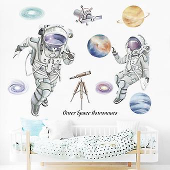 Space Cosmonaut Muurstickers Stickers Woonkamer Home Decor Pasta