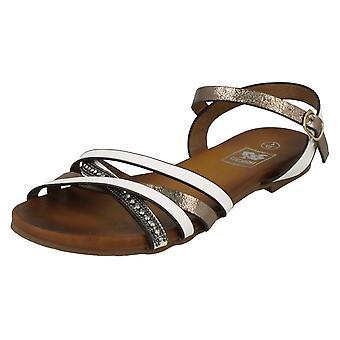 Kära ner till jorden platt X remmen pärlstav Vamp sandaler F00032