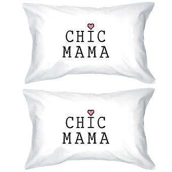 Chic Mama White Cotton Pillowcase Unique Mothers Day Gift Ideas