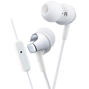 JVC Premium Sound In Ear Headphones with Remote And Mic - White (HAFR325W)