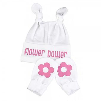 Die Qual der faulen Flower Power Hut & Handschuh Set