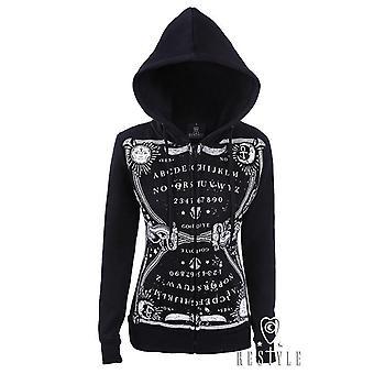 Restyle-Ouija hoodie-vrouwen hoodie-zwart