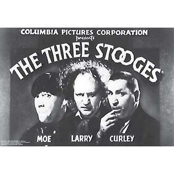 Drei Stooges öffnen Credits Poster drucken (36 x 24)