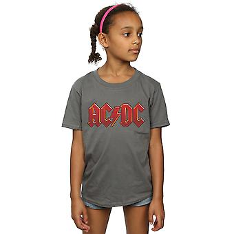 AC/DC Mädchen dunkle rote Logo T-Shirt