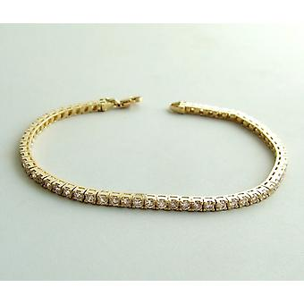 Christian gouden armband met zirkonia
