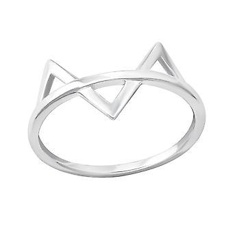 Geometric - 925 Sterling Silver Plain Rings - W33826x