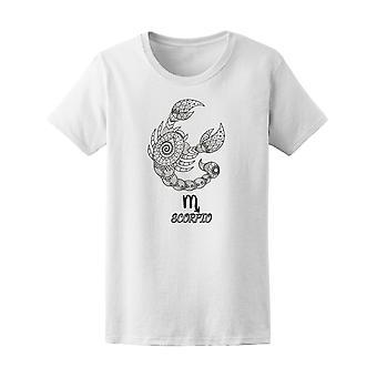 Signe du zodiaque Scorpion Zendoodle Tee femmes-Image de Shutterstock