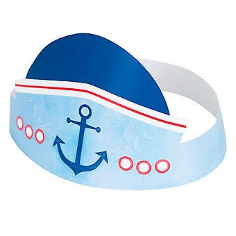 Unique Party Nautical 1st Birthday Hats (Pack Of 6)