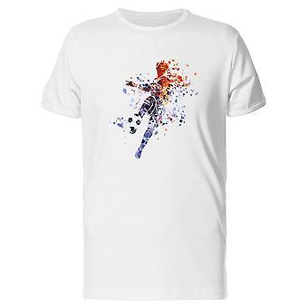 サッカー選手のペイント アート t シャツ メンズ-シャッターによる画像