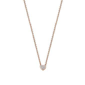 ESPRIT women's kedja halsband silver Rosé cubic zirconia Petite ESNL92942C420