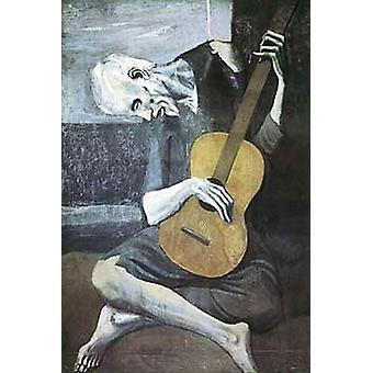 Old Guitarist Poster Print by Pablo Picasso (18 x 27)