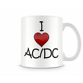 Ik houd van AC / DC Gedrukte Mok