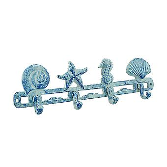 Blue Cast Iron strand thema muur haken