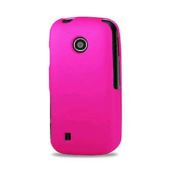 Reiko - Rubberized Protective Case for LG MN270 - Hot Pink